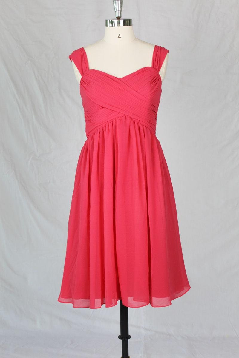 Short Watermelon Prom dress Simple prom dress party dresses
