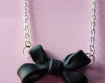 Pretty Feminine Bow Necklace