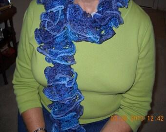 Midnight Blue Stylish Ruffle scarf