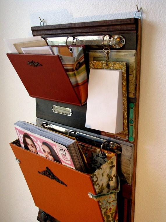 MyGift Cabinet Shelf Vintage Desktop Wood Storage Office ...  Desktop Mail Organizer For Kitchen