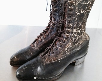 Antique Victorian Era Leather Boots