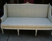 Fabulous carved French Chic sofa