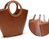 Coffee brown Leather Tote/shoulder bag/hand bag/leather tote