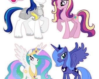 My Little Pony Princess set Luna Cadence Celestia Removable Wall Decal Stickers Set