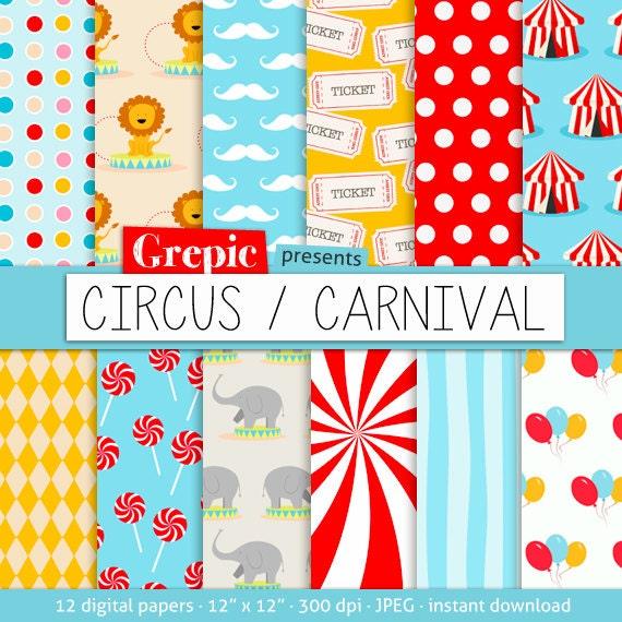 circus patterns printable - photo #5