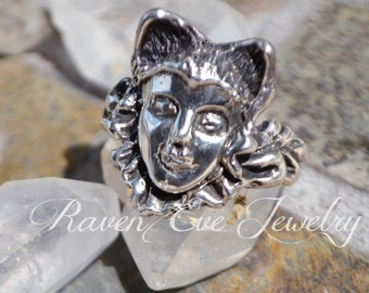 Wolf Girl Ring Solid Sterling Silver Fairy Tale Red Riding hood Ring
