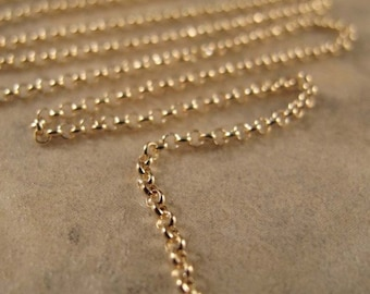 5 Feet of Gold Rolo Chain, Five Feet of Vermeil 1.6mm Chain, Everyday Necklace, Jewelry Supples, Gold over Sterling Silver (970i)
