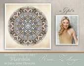 Custom Mandala Name Created with Alphabet Photo Letters - Artwork perfect for New Last Name - as gifted to Renee Zellweger