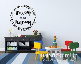 Kids Playroom Wall Art in Words Children art display Decals for craft rooms, playroom and teachers