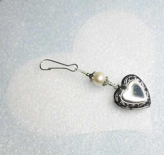 Bridal Bouquet Locket Charm : Wedding bouquet photo charm heart locket with by