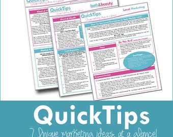 Marketing Local Marketing and Promotion QuickTip sheet