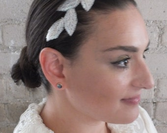 Wreaths and Tiaras, Bridal Head Piece,  Wedding Hairband, Wedding Veil Alternative, Bridal Veil, Bridal Headband