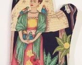 Frida Kahlo in Green Oven Mitt