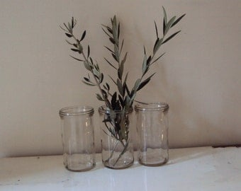 Three VINTAGE FOWLER'S bottles, No 31. Fabulous COLLECTION. Wedding flowers/ vintage storage