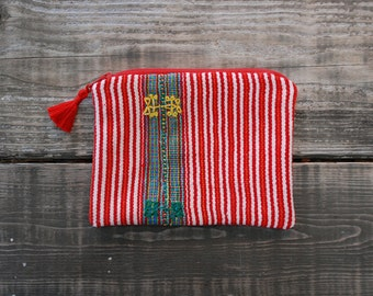 Handwoven Colorful Guatemalan Zip Pouch