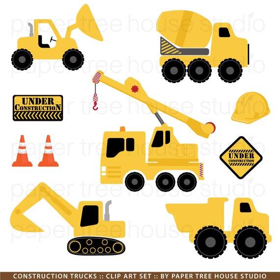 Construction Trucks Clip Art Excavator Clipart Dump Truck PNG Worker
