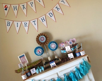 BRAVE inspired Party Pack - Princess Merida - Brave - Party Supplies - INSTANT DOWNLOAD