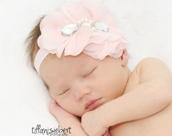 Baby Headbands, Newborn Headband, Baby Bows, Headband, Girl Headband, Newborn Headband, Hairbow, Pink Headband, Head band, Vintage baby bow