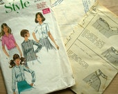 1960s Blouse Pattern - Style 2359 - Young  Junior Teen- bust 33 1/2