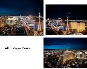 Las Vegas Print, Las Vegas Strip Photography, Las Vegas Art Lot - THREE, Las Vegas Strip Photo