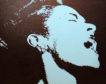 "Billie Holiday Custom Pop Art Painting 20""x20"" Canvas"