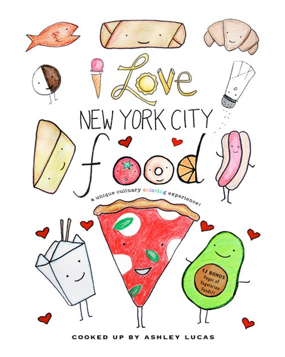 New York City Food Coloring Book PDF