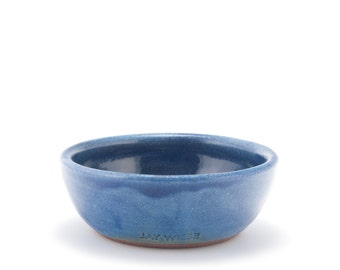 Dip bowl (blue), rustic modern stoneware pottery