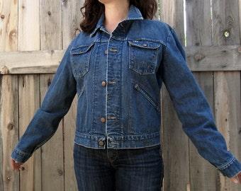vintage Denim Wrangler jacket Classic jean jacket 44