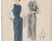 7799 UNCUT 1950's VOGUE Women's Dress Sewing Pattern Vogue 7799 Bust 36