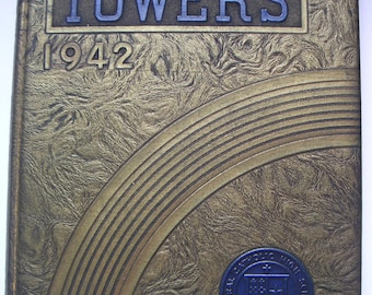 Vintage Yearbook - Central District Catholic High School, Pittsburg, PA. The Towers 1942,Memory Lane,Keepsake