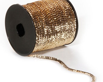 9 yards Gold Sequin Cups Trim - 5mm - 27 Feet