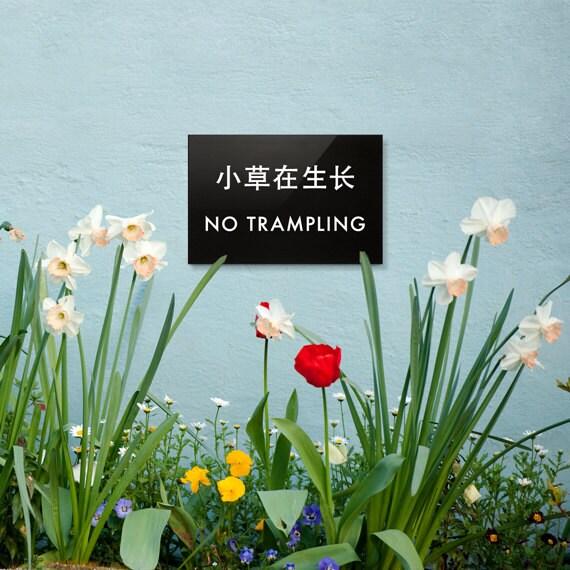 Fun Flower Garden : Flower bed sign funny garden lawn yard no