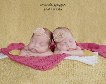 Baby Blanket Raspberry Pink Baby Blanket Newborn Baby Girl Blanket Newborn Girl Blanket Photo Prop Photography Prop Layering Bucket Filler