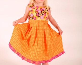 Girl's Sundress, Girls dresses, Girls Jumper,  Toddler dress, Little Girls Dress, Toddler sundress, pink dress, Size 2 3 4 5 6 7 8 10