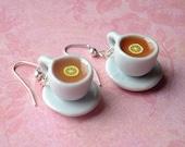 Miniature Cups of Tea with Lemon Earrings