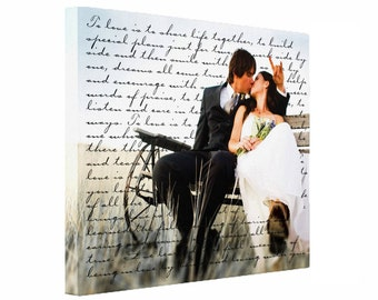 Photo Canvas, 16x20, Personalized, Photo on Canvas, Wedding Canvas, Anniversary Canvas, Engagement Gift, Wall Art, Canvas Print, Custom