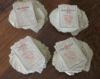 Brown & Williamson Tobacco and Raleigh Tobacco Coupons 1960 Era 362 Total Coupons