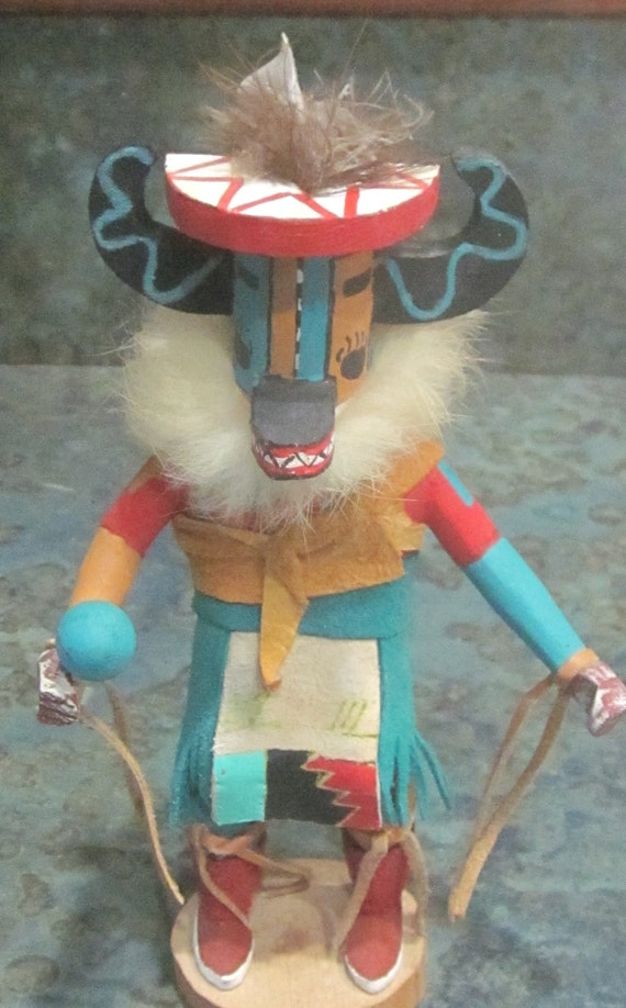 Hopi Badger Kachina Doll 1970 S