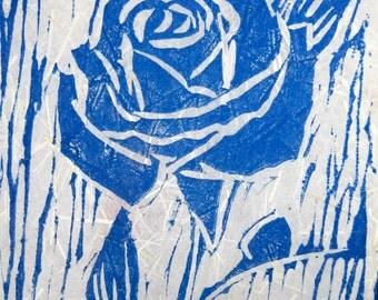 Rose Original Linocut