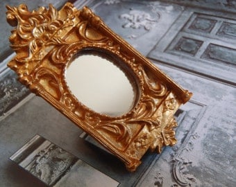 Ring VERSAILLES -- Baroque miniature mirror adjustable ring by The Sausage
