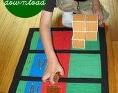 Digital Download PDF Sewing Pattern Montessori DIY Math: Addition and Place Value Mats