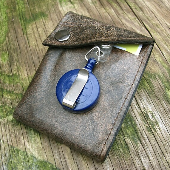 Men's Leather Wallet - Deluxe Bifold ID Card Holder --- Distressed Brown