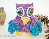 Peacocked Owl Monster Plush Collectible Doll - knotbygranma