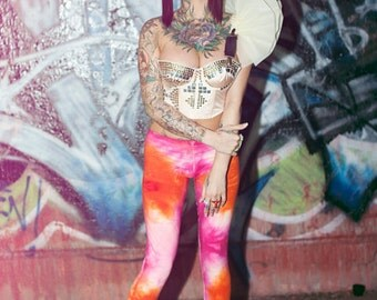 SALE New York Couture Limited Edition Wonderland Collection Pink GALAXY Cosmic Leggings