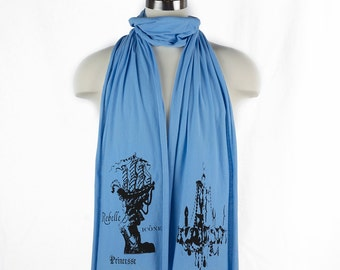 Marie Antoinette Princesse Screen printed Cotton Scarf