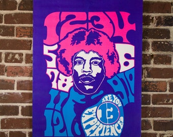 Jimi Hendrix Are You Experienced Psychedelic Blacklight Poster