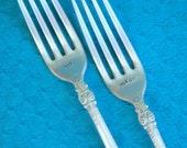 Custom Stamped Mr & Mrs Vintage Forks