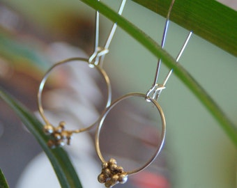 Sterling Grainy Hoop Earring
