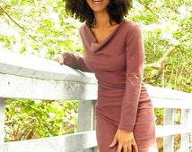 The Pandora dress. Organic hemp jersey (stretchy). Made to order.