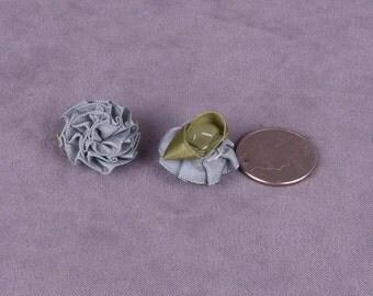 SALE 15 Medium Blue Satin Flowers (SFMB-15)